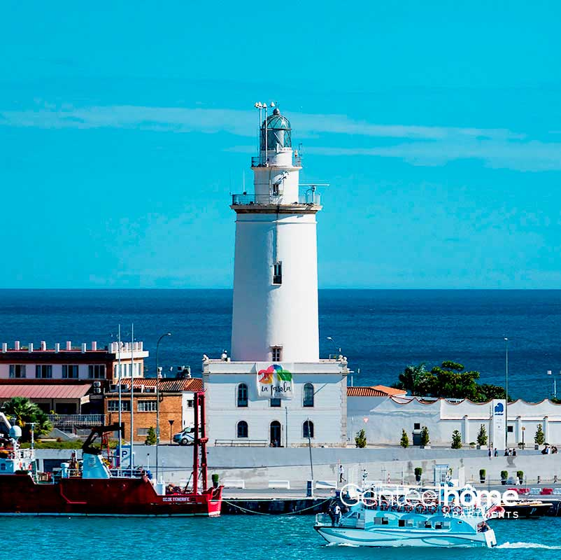 Lighthouse-and-port-of-Malaga